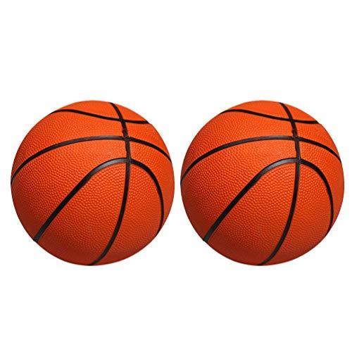 BESPORTBLE 2 Stück Mini Aufblasbare Basketbälle Gummibälle Kinder Ersatz Basketballspielzeug Indoor Outdoor Sport Strand Pool Spiel Partyzubehör (Orange 13Cm Durchmesser)