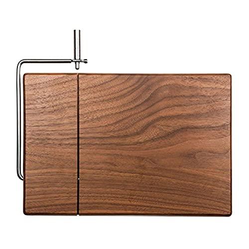 Estrella-L Cortadora de escritorio multifuncional, estructura de nuez negra para uso doméstico, fácil de limpiar