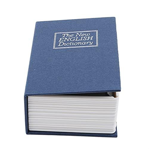 WWWL Hucha Diccionario Mini Caja de Seguridad Book Money Oculto Secreto Seguridad Seguro Lock Cash Money Moneda Almacenamiento Joyería Localaje Locker para niños Regalos (Color : Style 1 Dark Blue)