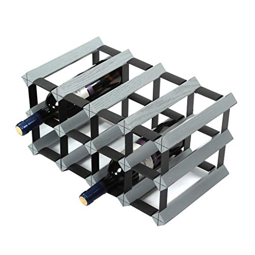 Kiter Wine rack Wine shelf Oak Wine Rack Decoration Wine Bottle Restaurant Solid Wood Cabinet (Size : M)