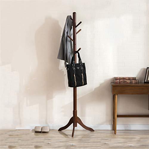 ZPWSNH Creatieve Slaapkamer Hanger Mode Effen Hout Kantoor Vloerstandaard Eenvoudige Thuis Vloerbedekking Rack 177x51cm Coat rack