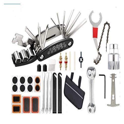 Kit de herramientas de reparación de bicicletas Accesorios para bicicletas Conjunto de herramientas múltiples con soporte de neumático de bomba Portátil para bicicletas de carretera de montaña Accesor