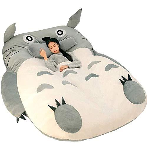 Kitchen Tatami Matratze Totoro Faules Bett Couch Chinchillas VerläNgertes Verdicktes Bett Cartoon Balkon Sofa Schlafzimmer Lounge Bett Kinder Geschenk,150 * 200cm