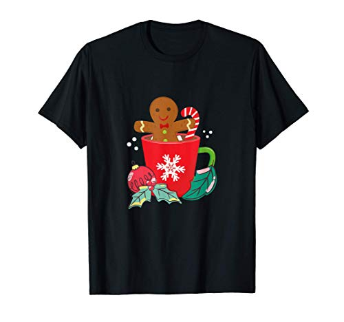 Pan de jengibre en taza de cacao caliente, disfraz de fiesta Camiseta