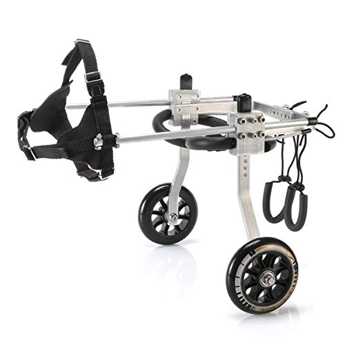 Verstellbare 2 Räder Hunderollstuhl für Behinderte Hunde von S nach L, für Rückwärtsbeine Rehabilitation (Size : Small)