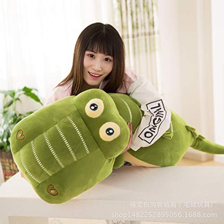 LindaQ Petit Crocodile Peluche poupée Jouets pour Enfants 100cm