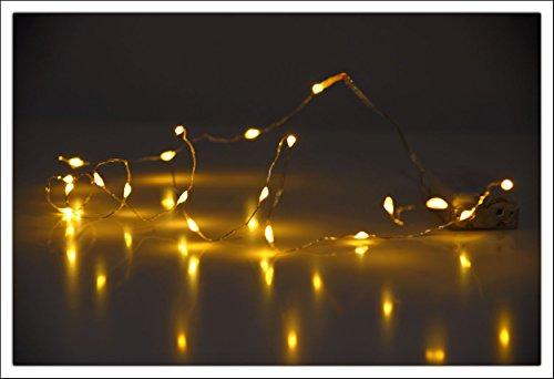 Spetebo Guirlande lumineuse à 40 LED Blanc chaud Avec fil à piles