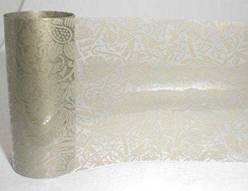 1,0 m de Nail Art de Ticket Film d'écran/de transfert d'écran/ : # FO de 115 : Champagne Lace/Champagne dentelle/Ranken (Transparent)