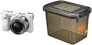 ソニー SONY ミラーレス一眼 α6000 パワーズームレンズキット E PZ 16-50mm F3.5-5.6 OSS ホワイト ILCE-6000L W+HAKUBA ドライボックスNEO 9.5L スモーク 防湿庫 KMC-40