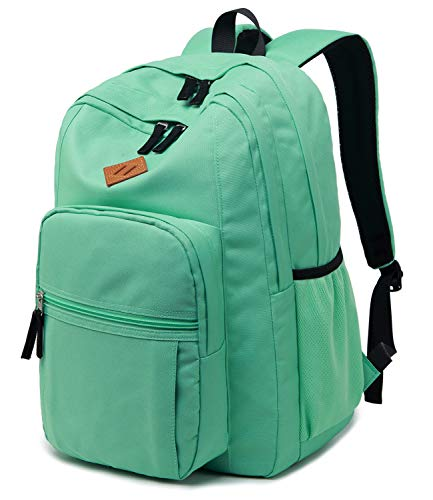 Abshoo Classical Basic Womens Travel Backpack For College Men Water Resistant Bookbag (Turquoise)