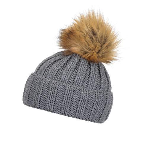 Eisbär Damen Jolina Lux MÜ Mütze, graumele-Braun