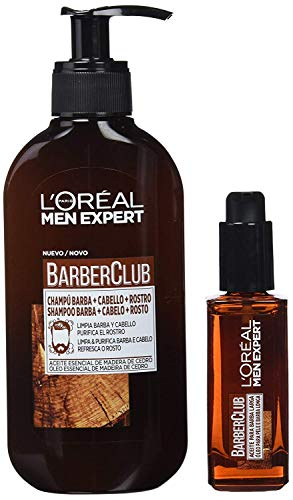 L'Oréal Paris Men Expert Kit Barber Club, Champú 3 en 1 y Aceite para barba