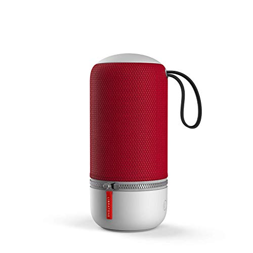 Libratone ZIPP MINI 2 Smart Wireless kleiner Lautsprecher (Alexa Integration, AirPlay 2, MultiRoom, 360° Sound, Wlan, Bluetooth, Spotify Connect, 12 Std. Akku) cranberry red