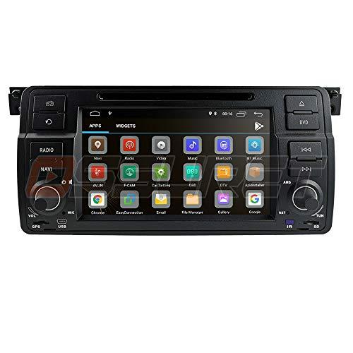 Ossuret Android 10 Radio 7 Pulgadas de Coche Navegación GPS Apto para E46 2/3/4/5 Puertas y M3