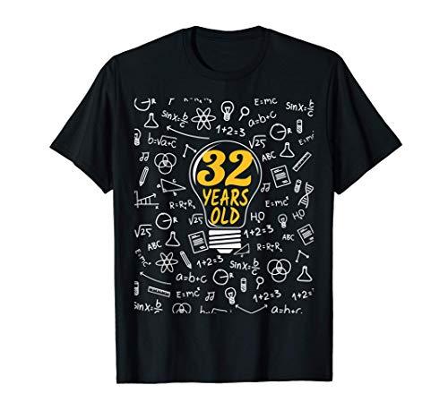 32 Años Cumpleaños regalo matemáticas hombres mujeres Camiseta