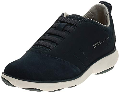 Geox U NEBULA B - zapatilla deportiva de cuero hombre, Azul (NAVYC4002), 42 EU