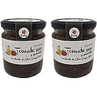 Tomate Seco y Guindilla en Aceite de Oliva Ecologico - Tarro de 210 gr - Conservas Artesanales Contigo (Pack de 2 tarros)