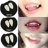 ハロウィンパーティーコスプレプロップデコレーション吸血鬼の歯ホラー偽歯、8個