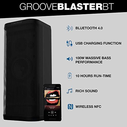 Reloop Groove Blaster BT Lautsprecher AUX, NFC, USB Schwarz