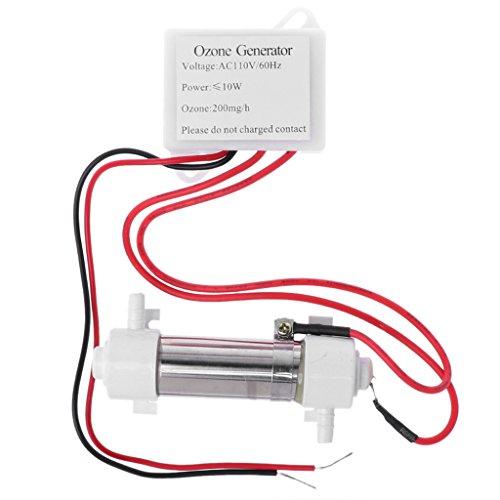 Tubo generador de ozono Folewr para purificador de aire de tratamiento de agua DIY AC110V 200 mg