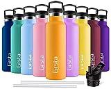 Grsta Botella Agua Acero Inoxidable - Termo para Agua Fria 500ml/Naranja Botella Termica sin BPA...