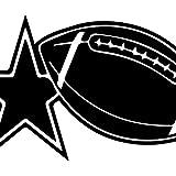 USC DECALS All Stars Football (Black) (Set of 2) Premium Waterproof Vinyl Decal Stickers for Laptop Phone Accessory Helmet Car Window Bumper Mug Tuber Cup Door Wall Decoration