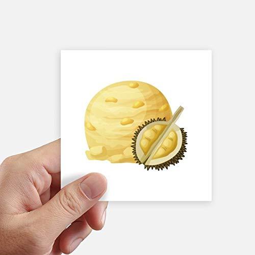 DIYthinker Gelb Durian EIS Ball Popsicles Quadrataufkleber 10Cm Wand Koffer Laptop Motobike Aufkleber 8Pcs 10cm x 10cm Mehrfarbig