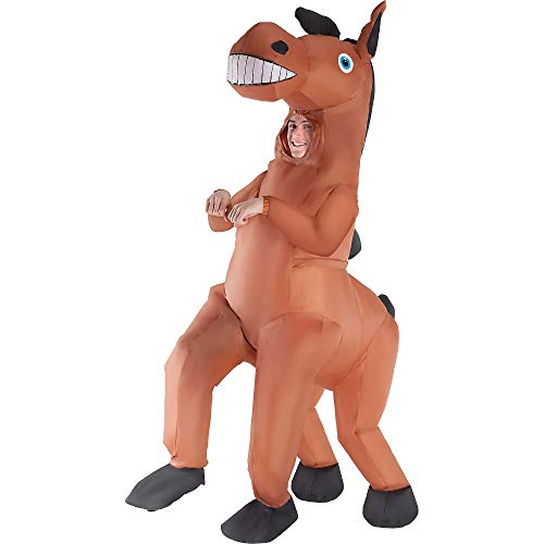 Morph Inflatable Horse Halloween Costume for Men, One Size, with Included Accessories