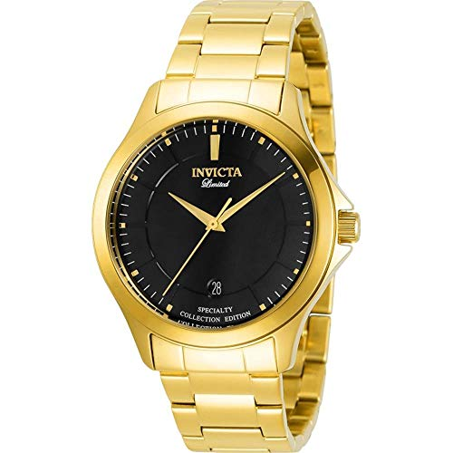 Invicta 31125 Men's Specialty Black Dial Bracelet Quartz Watch