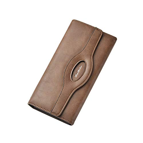 HANGYIKJ Herrenbrieftasche Lässige Mode Lange Brieftasche Tasche Weiche Lederhandtasche Große Kapazität Kartenhalter Brieftasche Multifunktions Brieftasche