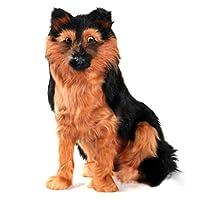 GoolRC シミュレーション犬人形誕生日プレゼント子供ペットおもちゃリビングルーム装飾シミュレーションオオカミ犬ジャーマンシェパードブラックバックしゃがむオオカミ犬