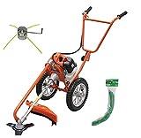 Kit Desbrozadora de Ruedas, 52cc y 26mm, con Accesorios - Mader Garden Tools- 02020