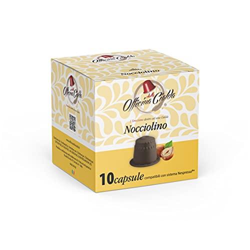 ODC Capsule compatibili con macchina da Caffè sistema Nespresso kit formato da 80 cialde Nocciolino senza caffeina con chiusura salva freschezza MADE IN ITALY