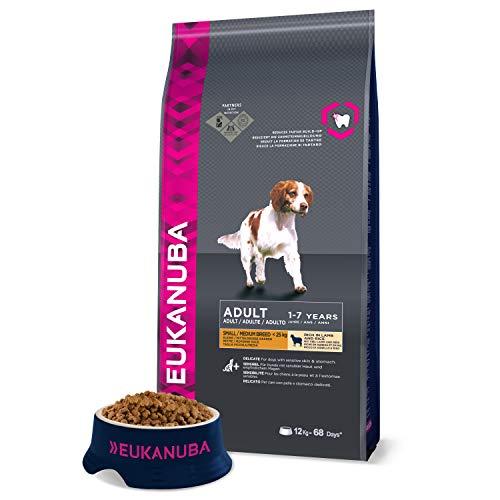 Eukanuba Premium Hondenvoer, met Lam & Rijst, Droogvoer, voor Gevoelige Honden, 1 x 12 kg Zak
