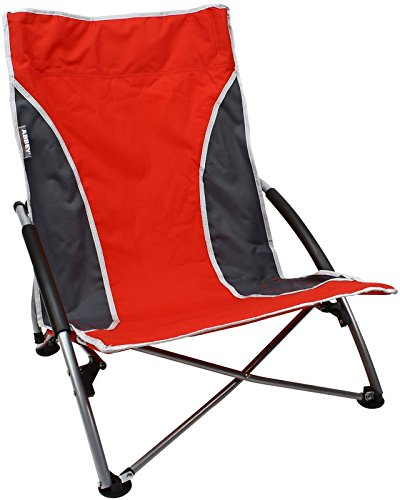 SCHREUDERS SPORT Abbey Camp Beach Chair, Unisex, Abbey Camp, Red/Grey, Taglia Unica