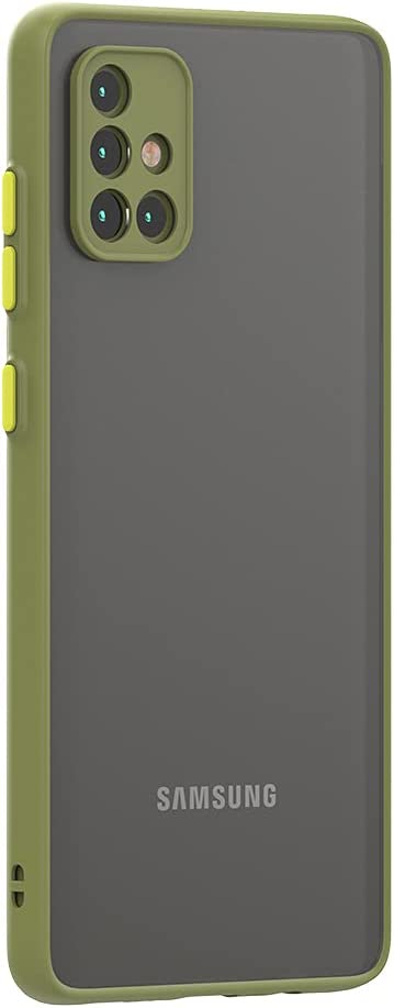 Case for Samsung Galaxy A51 Case 4G [Protect from Fingerprint/Shock/Scratch/Slip] Shockproof Hard PC Back with Soft TPU Bumper Slim Protective Phone Cover for Samsung Galaxy A51 4G (Green)