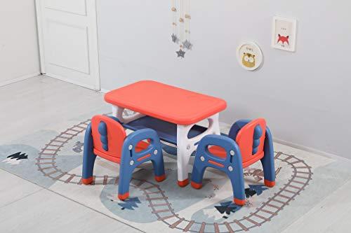 Avior Kids Kindersitzgruppe Sitzgruppe Kinder Kindermöbel Kinderstuhl & Tisch Kindertisch mit 2 Kinderstühlen Rot