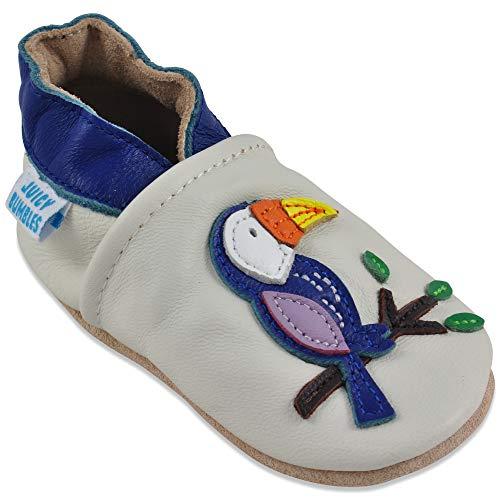Juicy Bumbles Chaussures Bébé - Chaussons Bébé Cuir Souple - Toucan 12-18 Mois