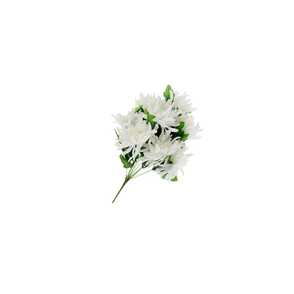 Artificial Silk Flowers Arrangement for Cemetery Funeral Memorial Grave  Color – White B 