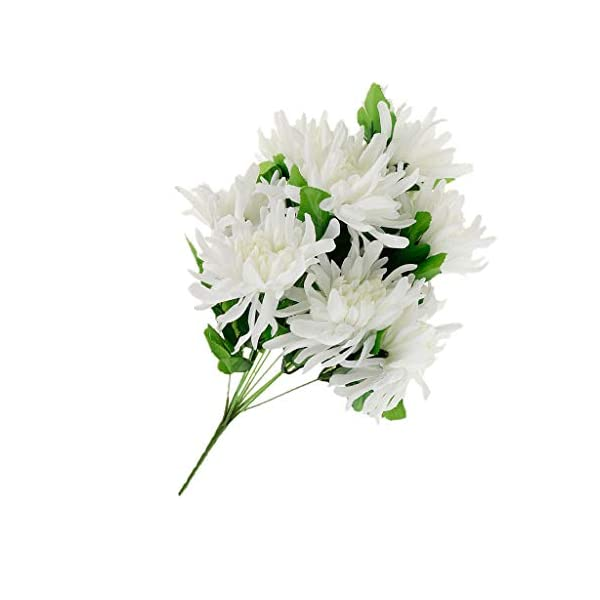 Artificial Silk Flowers Arrangement for Cemetery Funeral Memorial Grave |Color – White B|