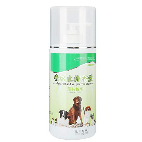 EVTSCAN Champú para Perros, Mascota Perro Baño anticaspa Ducha Champú Líquido de baño Líquido 500ML