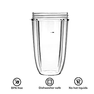 Replacement Cups for Nutribullet Replacement Parts 24oz Blender Cups Compatible with NutriBullet 600w and 900w Blender |