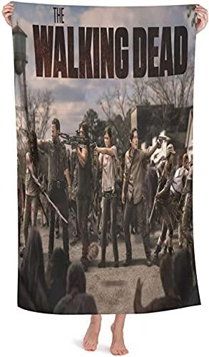 Toalla de playa The Walking Dead, protagonista de la serie de televisión del terror, toalla de baño ligera de secado rápido (Walking5, 150 cm x 180 cm)