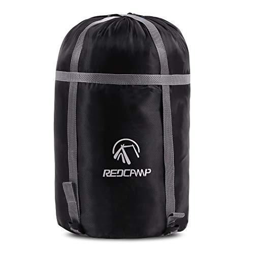 REDCAMP Bolsa de compresión de nailon de 17 l para saco de dormir, ligera y compacta, bolsa de compresión para camping, al aire libre, senderismo, viajes, color negro mediano 🔥