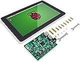 "SunFounder Raspberry Pi 10.1""HDMI 1280x800 IPS LCDタッチスクリーンモニター-Raspberry Pi 4,400,3B+,3B, 2B,1B+, LattePanda, and PCに適用"