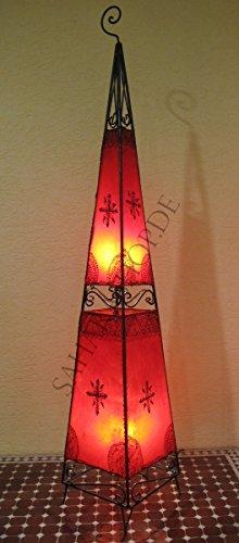 Saharashop Marrakesch Henna - Lámpara de pie (155 cm), diseño oriental, color rojo