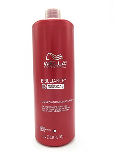 Wella Brilliance Shampoo for Coarse Colored Hair for Unisex, 33.8 Ounce by Wella (English Manual)