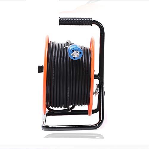 ZBM - ZBM Kabeltrommel - Master-Stecker 4 Buchse Außenwetter Fall Rollen, 30/50 / 100M 220V 10A Orange IP44 Wasserdicht Versenkbare Verlängerungskabeltrommel For Workshops Home Use DIY Und Mehr Kabelr