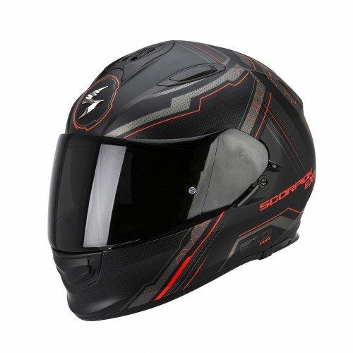 Scorpion Casco moto EXO-510 AIR SYNC Nero opaco-Neon Rosso M