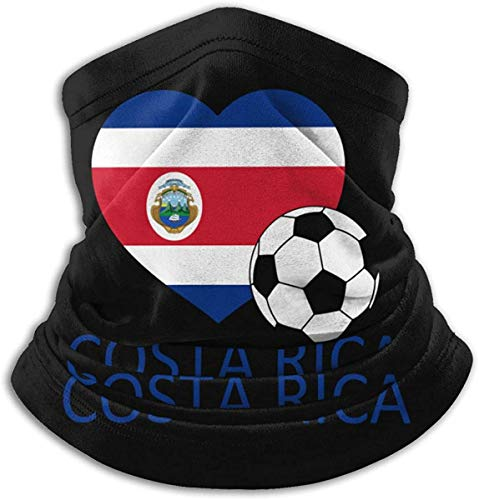 Belongtu Bufanda de cuello Cubierta de la cara Love Costa Rica Soccer Neck Warmer Gaiter Fleece Ski Face Cover for Winter